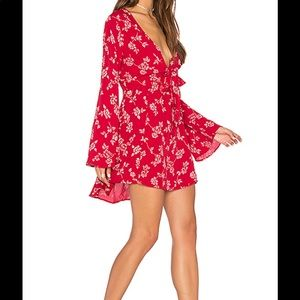 Flynn Skye London mini floral red dress BRAND NEW